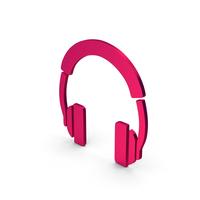 Symbol Headphones Metallic PNG & PSD Images