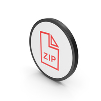 Icon ZIP File Red PNG & PSD Images