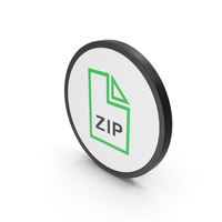Icon ZIP File Green PNG & PSD Images