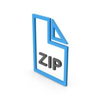 Symbol ZIP File Blue PNG & PSD Images