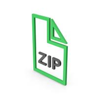 Symbol ZIP File Green PNG & PSD Images