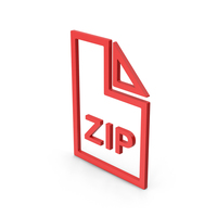 Symbol ZIP File Red PNG & PSD Images