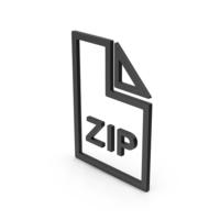 Symbol ZIP File Black PNG & PSD Images
