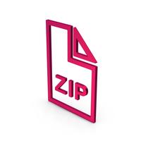 Symbol ZIP File Metallic PNG & PSD Images