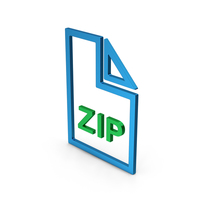 ZIP File Colored Metallic PNG & PSD Images