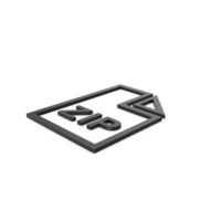 Black Symbol ZIP File PNG & PSD Images