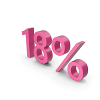 Pink Number 18 Percent PNG & PSD Images