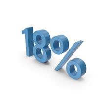 Blue Number 18 Percent PNG & PSD Images