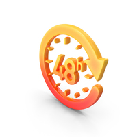 Logo Clock Time 48H PNG & PSD Images