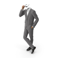 Hand in Pocket Sunglasses Suit Grey PNG & PSD Images