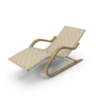 Beige Leather Lounge Chair PNG & PSD Images