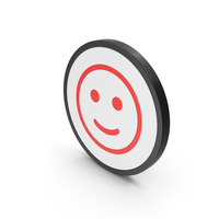 Icon Smiling Emoji Red PNG & PSD Images