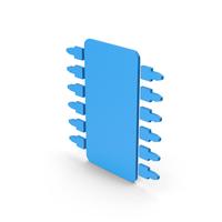 Symbol Microchip Blue PNG & PSD Images