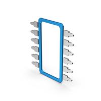 Symbol Microchip Blue Metallic PNG & PSD Images