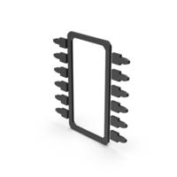 Symbol Microchip Black PNG & PSD Images