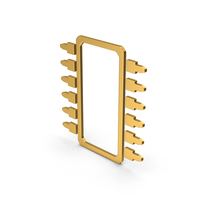 Symbol Microchip Gold PNG & PSD Images