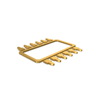 Gold Symbol Microchip PNG & PSD Images