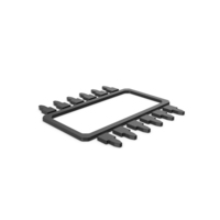 Black Symbol Microchip PNG & PSD Images