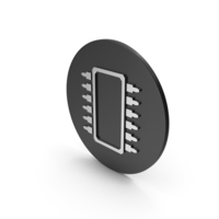 Microchip Silver Icon PNG & PSD Images