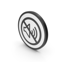 Icon No Sound Black PNG & PSD Images