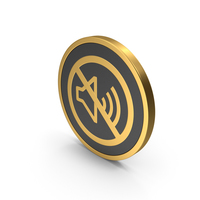 Gold Icon No Sound PNG & PSD Images