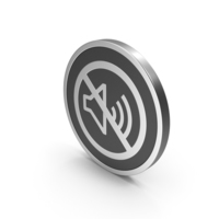 Silver Icon No Sound PNG & PSD Images