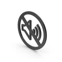 Symbol No Sound Black PNG & PSD Images
