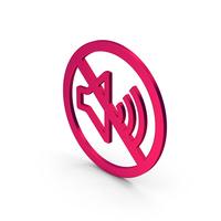 Symbol No Sound Metallic PNG & PSD Images