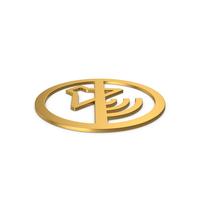 Symbol No Sound Gold PNG & PSD Images