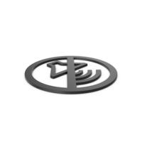 Black Symbol No Sound PNG & PSD Images