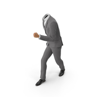 Running With Bag Suit Grey PNG & PSD Images