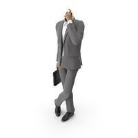 Waiting Talking Phone Bag Suit Grey PNG & PSD Images