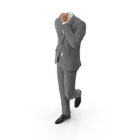 Standing Hand in Pocket Suit Grey PNG & PSD Images