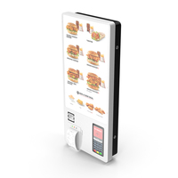 Fast Food Self Ordering Kiosk Wall Mounted PNG & PSD Images