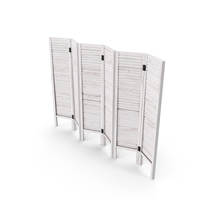 Folding Wood Room Divider Screen PNG & PSD Images