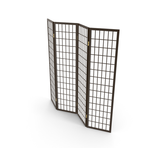 Four Panel Folding Screen PNG & PSD Images