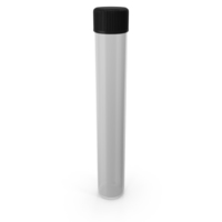 Glass Culture Tube with Screw Cap and Round Bottom PNG & PSD Images