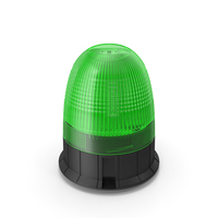 Green Warning Beacon Light PNG & PSD Images