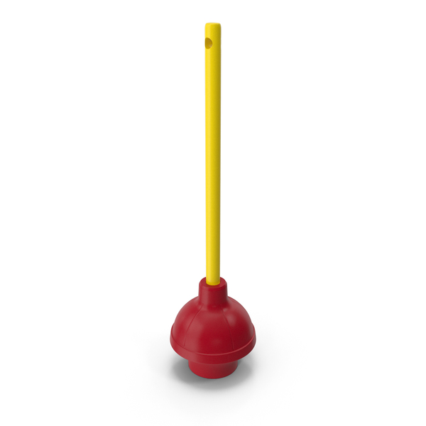 Heavy Duty Flange Toilet Plunger Red PNG & PSD Images