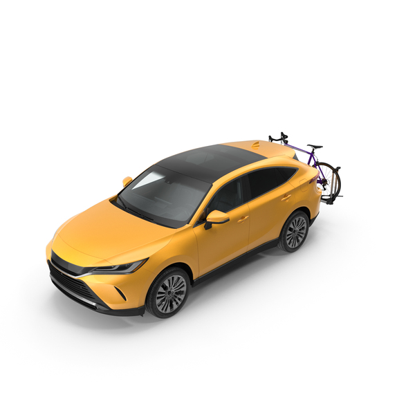 Hybrid SUV with Bike Rack Aluminum Platform Road Bike PNG & PSD Images
