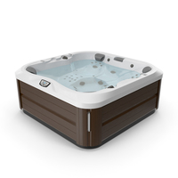 Jacuzzi J 335 Hot Tub Brown with Water PNG & PSD Images