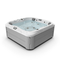 Jacuzzi J 335 Hot Tub Platinum with Water PNG & PSD Images