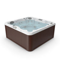 JACUZZI J235 Hot Tub Brown with Water PNG & PSD Images