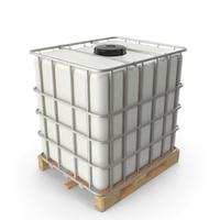 Kruizinga IBC Fluid Container 1000 Litre Wooden Pallet PNG & PSD Images