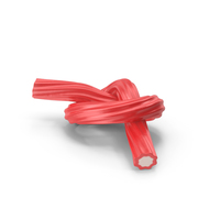Licorice Twisted Rope Candy Tied in Knot PNG & PSD Images