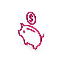 Symbol Piggy Bank Metallic PNG & PSD Images