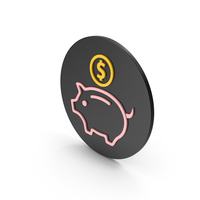 Piggy Bank Colored Icon PNG & PSD Images