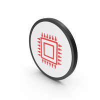 Icon Microchip Red PNG & PSD Images