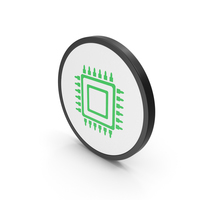 Icon Microchip Green PNG & PSD Images