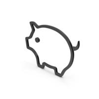 Symbol Pig Black PNG & PSD Images